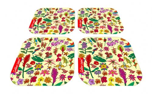 Selina-Jayne Tropical Flowers Limited Edition Designer Coaster Gift Set